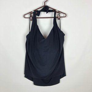 Magicsuit Solid Black Sophie Halter Plus Swim Top